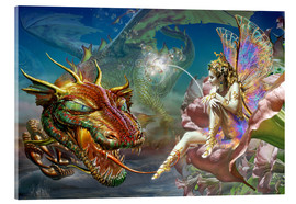 Acrylic print  The dragon and the fairy - Adrian Chesterman