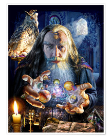 Premium poster  The wizard's world - Adrian Chesterman