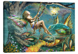 Canvas print  Dragon and fairy swing - Adrian Chesterman
