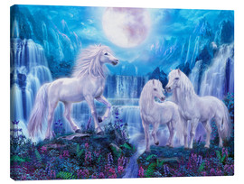 Canvas print  Night Horses - Jan Patrik Krasny