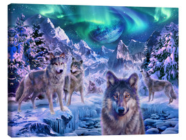 Canvas print  Winterwolf - Jan Patrik Krasny