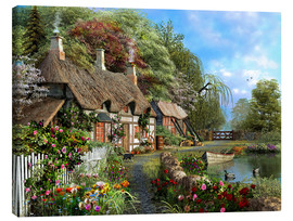 Canvas print  Riverside home in bloom - Dominic Davison