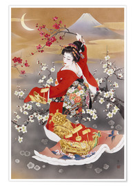 Premium poster The fleet-footed dance of Tsuru Kame