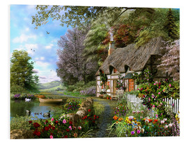 Foam board print  Countryside Cottage - Dominic Davison