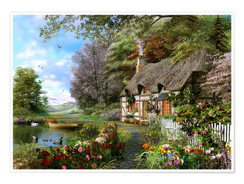 Premium poster Countryside Cottage