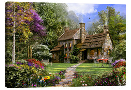 Canvas print  Old flint cottage - Dominic Davison
