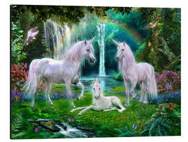 Aluminium print  Rainbow unicorn family - Jan Patrik Krasny