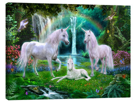 Canvas print  Rainbow unicorn family - Jan Patrik Krasny