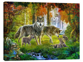 Canvas print  Summer Wolf Family - Jan Patrik Krasny