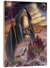 Wood print  The high Mage - Dragon Chronicles