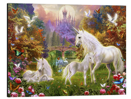 Aluminium print  The castle unicorns - Jan Patrik Krasny