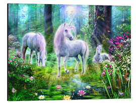Aluminium print  Forest unicorn family - Jan Patrik Krasny