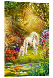 Acrylic print  Unicorns in the garden - Jan Patrik Krasny