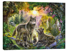 Canvas print  Autumn Wolf Family - Jan Patrik Krasny
