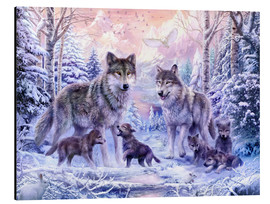 Aluminium print  Winter wolf family - Jan Patrik Krasny