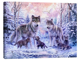 Canvas  Winter wolf family - Jan Patrik Krasny