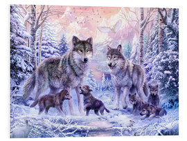 Foam board print  Winter wolf family - Jan Patrik Krasny