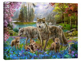 Canvas  Spring Wolf Family - Jan Patrik Krasny