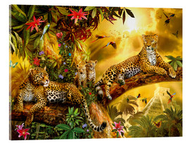 Acrylic glass  Jungle Jaguars - Jan Patrik Krasny