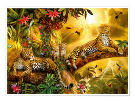 Premium poster  Jungle Jaguars - Jan Patrik Krasny