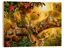 Wood print  Jungle Jaguars - Jan Patrik Krasny
