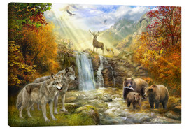 Canvas print  Bear Falls - Jan Patrik Krasny