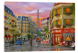 Acrylic glass  Rue Paris - Dominic Davison