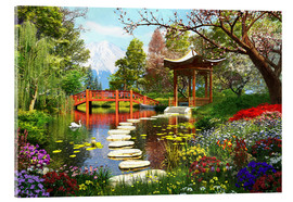 Acrylic glass  Gardens of Fuji - Dominic Davison