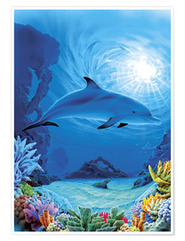 Poster  Camouflage dolphins - Robin Koni