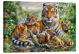 Canvas print  Tiger and Cubs - Adrian Chesterman