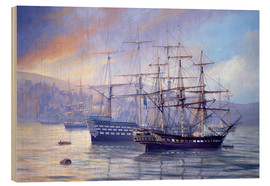 Wood print  Frigate and 1st Rate c.1815 - Rob Johnson