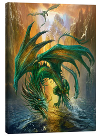 Canvas print  Dragon of the lake - Dragon Chronicles