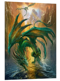 Foam board print  Dragon of the lake - Dragon Chronicles