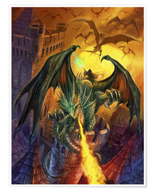 Premium poster  Count Veldspar attack - Dragon Chronicles