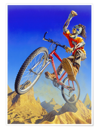 Premium poster Mountain bike