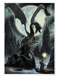 Premium poster Dragons rock