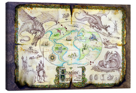 Canvas print  Dragons of the world - Dragon Chronicles