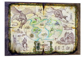 Foam board print  Dragons of the world - Dragon Chronicles