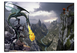 Aluminium print  Dragon valley - Dragon Chronicles