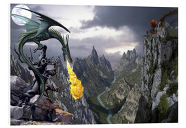 Foam board print  Dragon valley - Dragon Chronicles