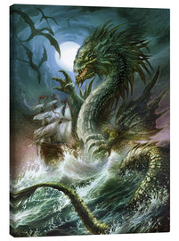 Canvas print  The sea serpent - Dragon Chronicles