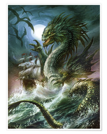 Poster  The sea serpent - Dragon Chronicles