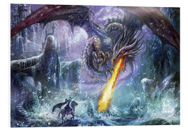 Foam board print  Dragon attack - Dragon Chronicles