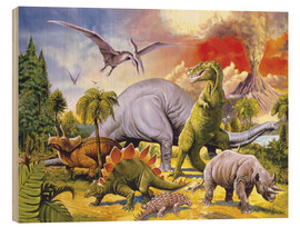 Wood print  Land of the dinosaurs - Paul Simmons
