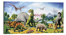 Alu-Dibond  Land of the dinosaurs - Paul Simmons