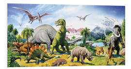 Foam board print  Land of the dinosaurs - Paul Simmons