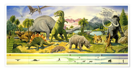 Poster Land of the dinosaurs