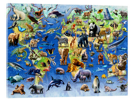 Acrylic glass  One Hundred Endangered Species - Adrian Chesterman