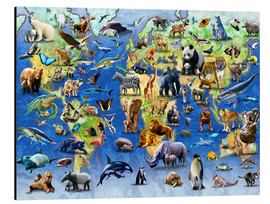 Aluminium print  One Hundred Endangered Species - Adrian Chesterman