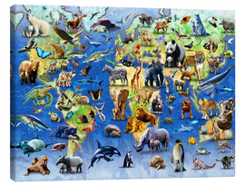 Canvas  One Hundred Endangered Species - Adrian Chesterman